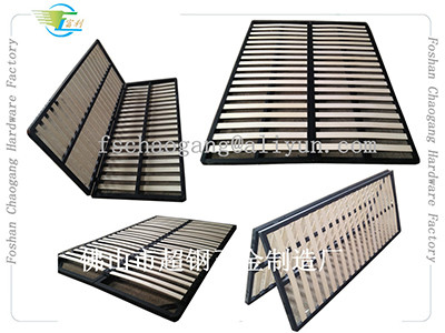 Hotel Hospital Foldable Metal Bed Frame With King / Queen / Double Twin Size